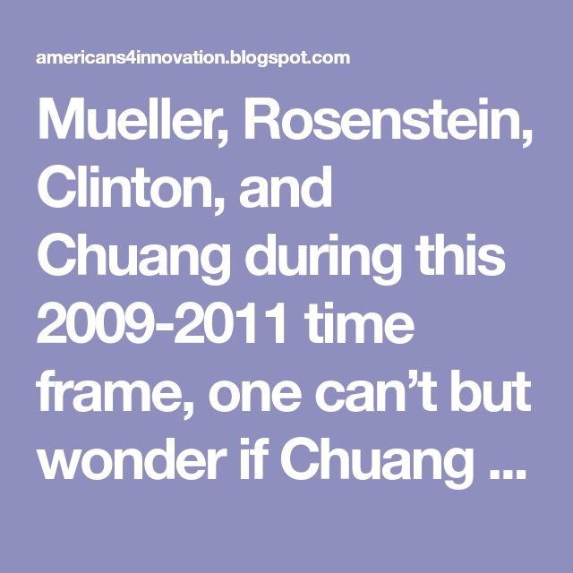 Mueller, Rosenstein, Clinton, and Chuang during this 2009-2011 time frame, one can't but wonder if Chuang wasn't complicit in the very crime itself. After all, he was General and Associate General Counsel of Homeland Security during the time that the Uranium One deals were being played out