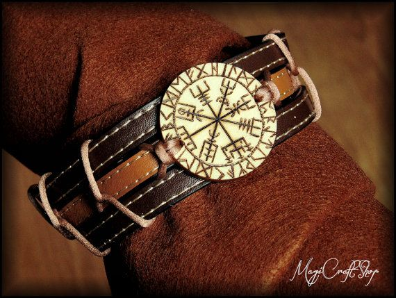 Vegvisir BRACELET for arm or wrist for man and by magicraftshop
