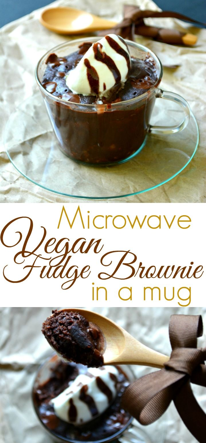 The newest addition to my collection of Chocoholics Anonymous recipes - Vegan Microwave Fudge Brownie in a mug. Makes 1 but serves 2. Intensely rich, fudgy chocolate chip brownie that desperately needs a little whipped cream or ice-cream. Ready in about a minute with virtually no cleanup!