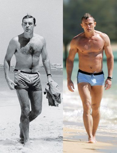 James Bond then and now. Sean Connery and Daniel Craig. # ...