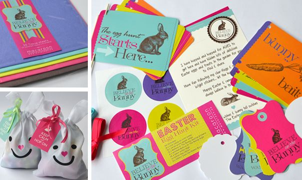 Macaroon's Easter hunt kits are a fabulous and bright way to plan your Easter hunt: www.macaroon.co