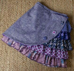 I want to make this using lace scraps in place of the ruffles.