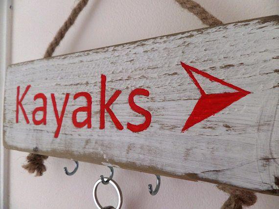 Key hooks key tidy reclaimed wood kayaks sign kayaks