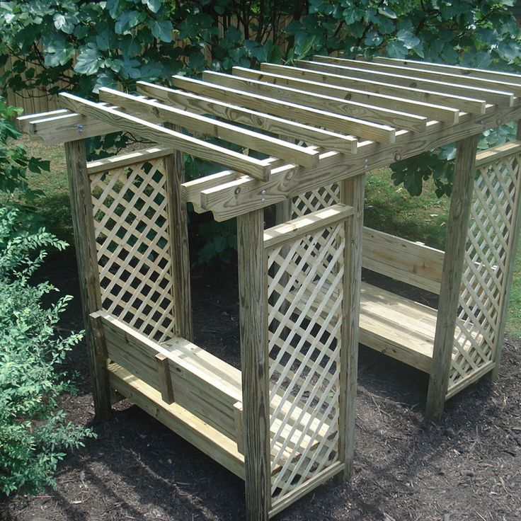 Double Bench Arbor Plans Woodworking Projects Plans