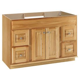 Style Selections Cotton Creek Natural Traditional Bathroom Vanity (Common: 48-in x 21-in; Actual: 48-in x 21-in)