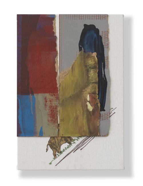 Arturo Herrera Untitled (Red/Blue Boars), 2014 Mixed media on textile 22.5 x 15.375 inches 57 x 39 cm VIA MORE