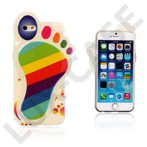 3D Fod (Farvede striber) iPhone 6 Cover