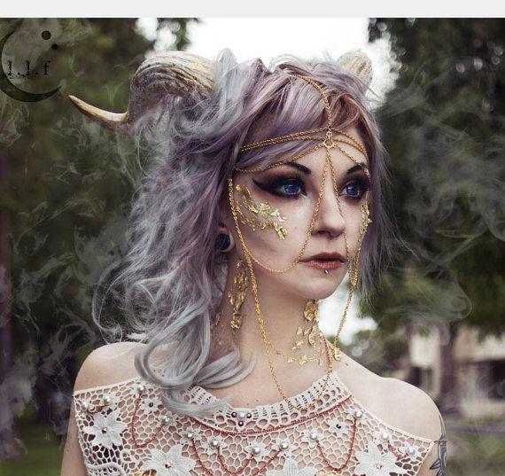 NICHT HALLOWEEN Gold als Flocken Dämon Hörner von LunaLeFeyOnline
