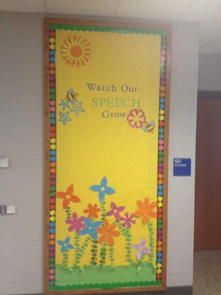 Speech Language Classroom Decorations ~ Best ideas about flower bulletin boards on pinterest