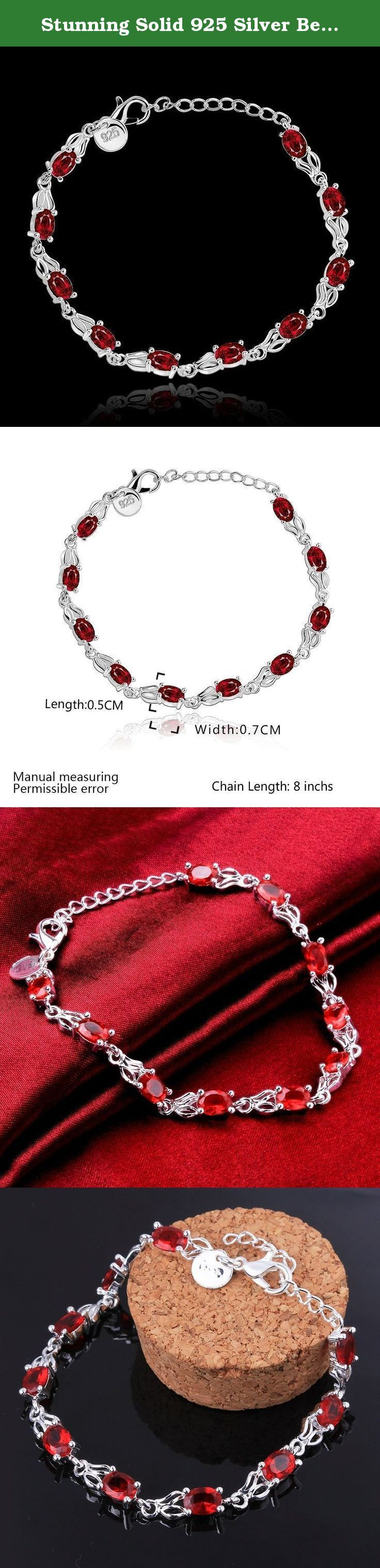 Stunning Solid 925 Silver Beautiful Red Diamond Fashion Bracelet Chain. This bracelet has certain subtle elegance and it is quite appropriate for office and formal wear. A wonderful gift for that special person in your life , whether it is for a birthday, Valentine's Day, An anniversary, or any other special occasion. This item comes in a Gift Bag.Will make your item or gift more perfect. Jewelry maintenance and Precautions 1.First.'s Best maintenance method is to wear every day, due to…