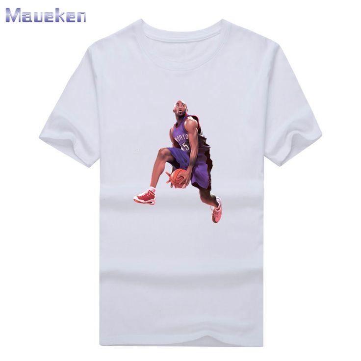 Cool Printed Vince Carter drunk Cartoon P Toronto Short Sleeve T-shirt Tee 100% Cotton fans T shirt 0312-12