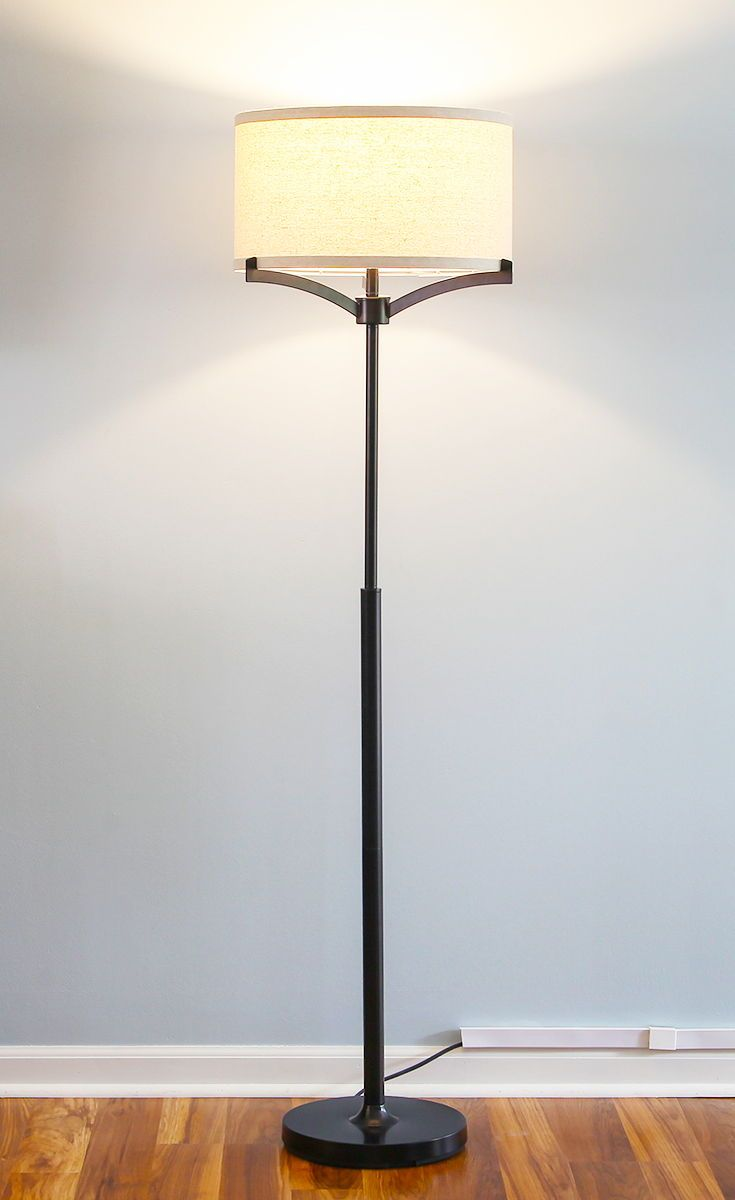 Brightech The Upscale Vibe Of The Elijah Led Floor Lamp Brings A Touch Of Elegance To Any Living Room Tall Floor Lamps Lamps Living Room Beautiful Floor Lamps
