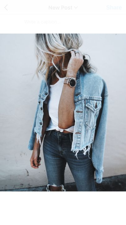 mid week... double denim, frayed & vintage  @liketoknow.it http://liketk.it/2oDFA #liketkit