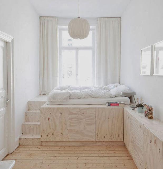 Les 25 meilleures id es concernant rangement sous lit sur pinterest lit bib - Lit pour petite chambre ...