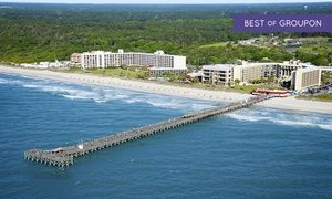 Recently renovated Myrtle Beach resort with ocean-view rooms and access to pier; located on the beach and next to a state park