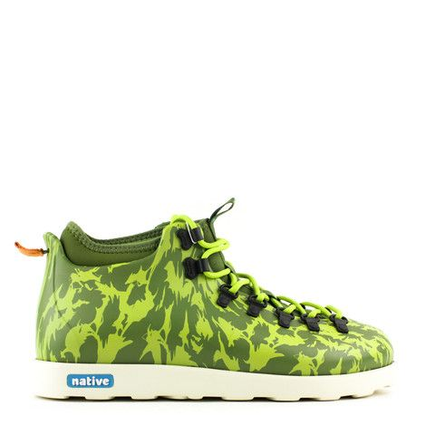 NATIVE SHOES FITZSIMMONS PRINT ADULT JUICE/GRN/CHRTRS GRN FOX CAMO GLM | Solestop.com