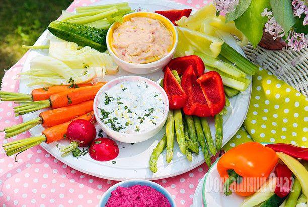 Cоусы-дипы к овощной тарелке