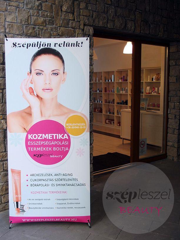 Szépleszel Beauty kozmetika bejárata