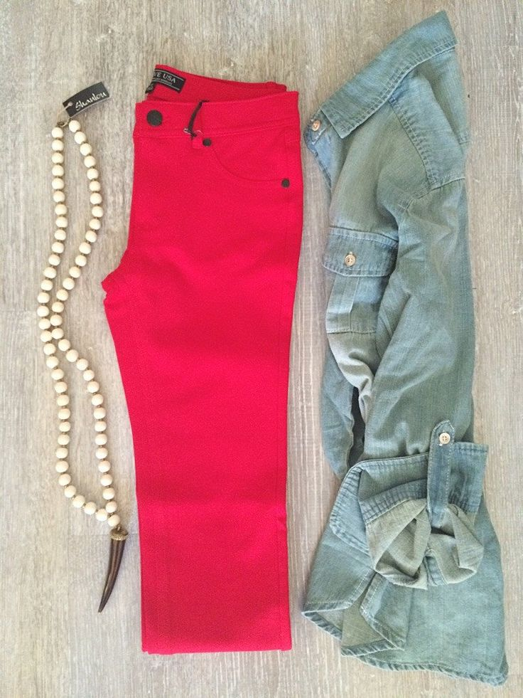 B123 Jeggings - Red