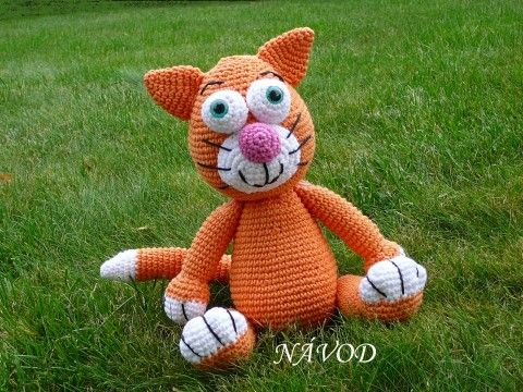 Háčkovaný kocour - Návod zvíře dekorace dárek děti vánoce kočka kocour kočička…