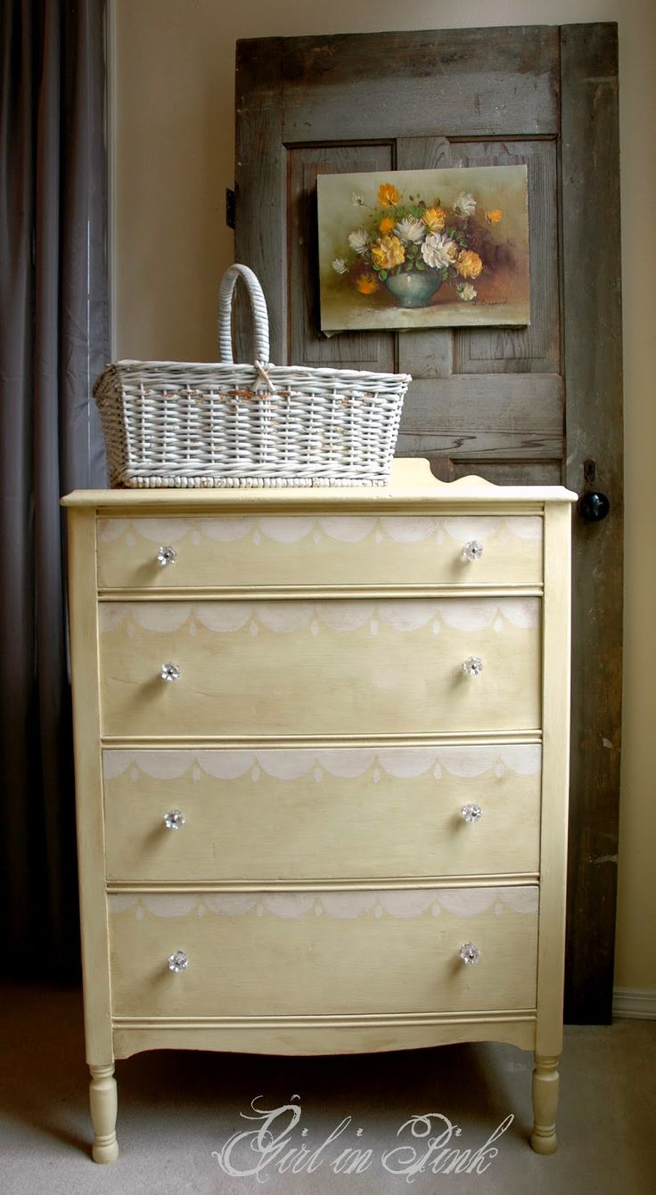 painting furniture ideas color. girl in pink scalloped cottage cream dresser details distressing withput danding to reveal an ugly inderneath color painting furniture ideas