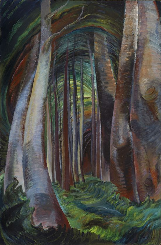 Emily Carr Wood Interior, 1932-1935 oil on canvas Collection of the Vancouver Art Gallery, Emily Carr Trust