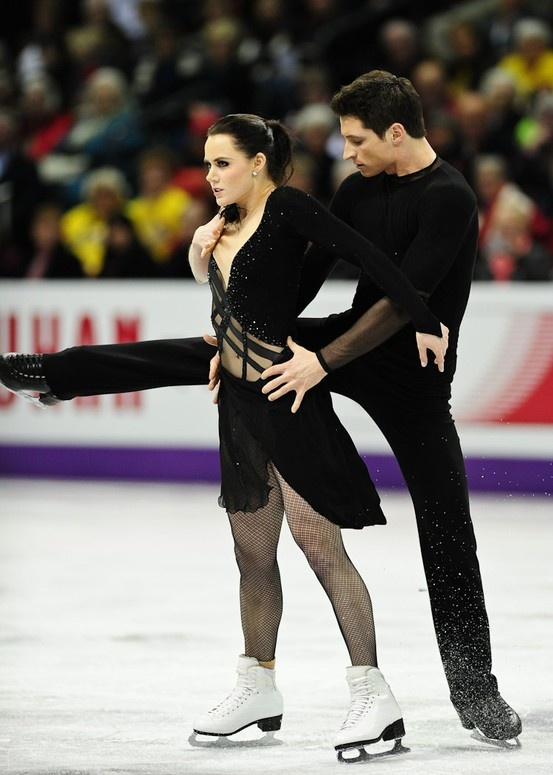Tessa Virtue and Scott Moir won Silver in the Pairs Free Dance category.