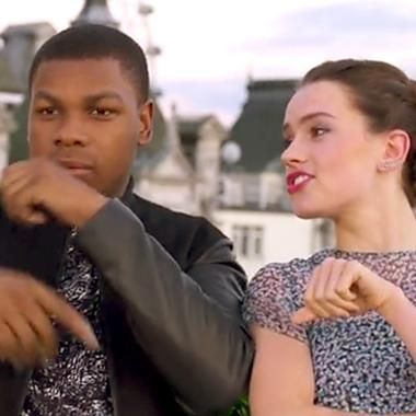 Hot: Daisy Ridley raps about Star Wars with John Boyega