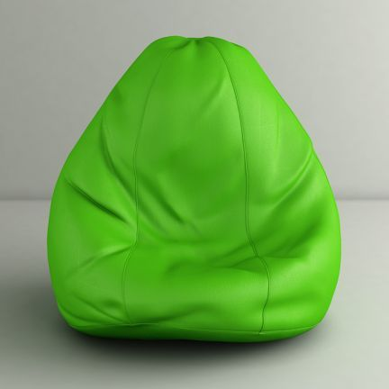 Style Homez Parrot Green Classic Bean Bag - Can you keep your eyes off this spectacular parrot green bean bag