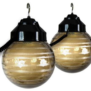 Awning Lights - 6 Globes (Etched Bronze & Black cord)
