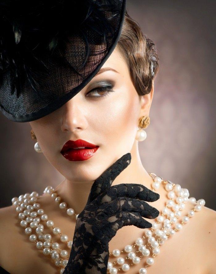 Женщина в стиле ретро   Woman in retro style