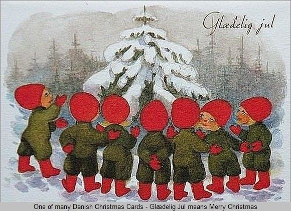 19 best places to visit images on pinterest danish christmas christmas card showing small christmas elves and a snow covered fir tree m4hsunfo