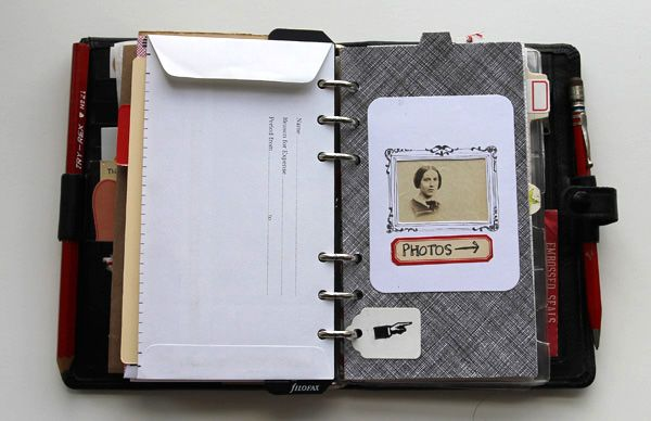 Journal made from an old filofax