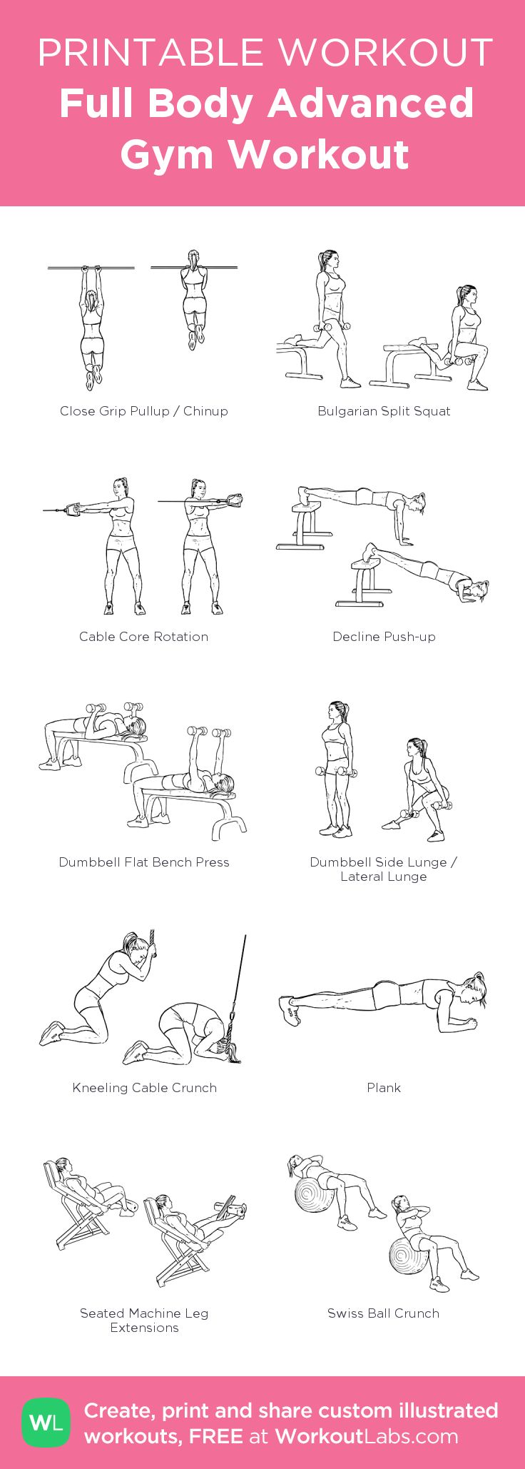 170 best Free Printable Workouts images on Pinterest | Exercise ...
