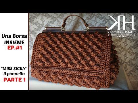 Borsa SABBIA  Tutorial Passo passo - Crochet - YouTube
