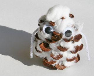 Make pine cone snow owls | ChicagoParent.com