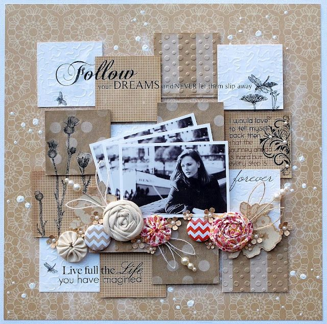 #papercraft #scrapbook #layout. Love the layers and dimension!