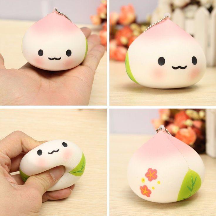 Kawaii Squishy Peach Soft Toy Cute Kawaii Phone Bag Strap Decor Gift