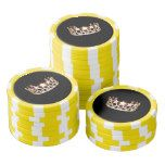 Miss USA Gold Crown Poker Chips-Yellow Poker Chip Set