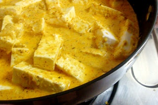 Slices of Paneer simmered in rich creamy coconut based gravy tastes heavenly, but mind you these can add their mark on your waistline along with tickling your taste buds. I particularly wanted to m...