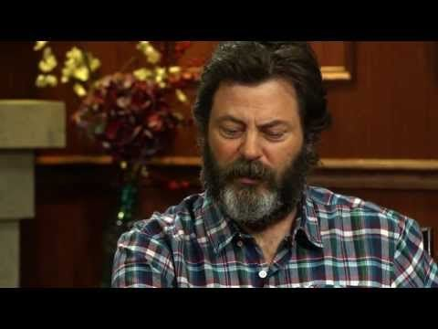 Woodworking Or Bacon? Nick Offerman Answers Social Media Questions | Larry King Now