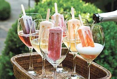 Back Yard Weddings On A Budget | backyard wedding ideas popsicles and champagne cocktail