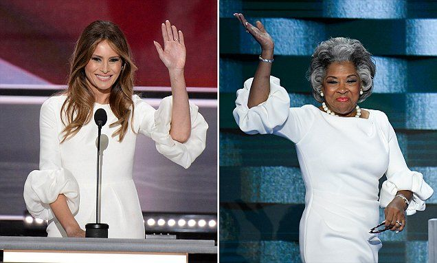 Who wore it best? Congresswoman Joyce Beatty wears the SAME dress as Melania Trump during her appearance at the Democratic convention | Daily Mail Online