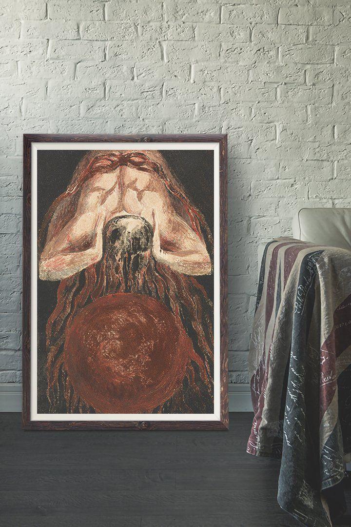 William Blake The First Book Of Urizen Vintage Wall Art Print Vintage Art Paintings Art Prints Vintage Wall Art