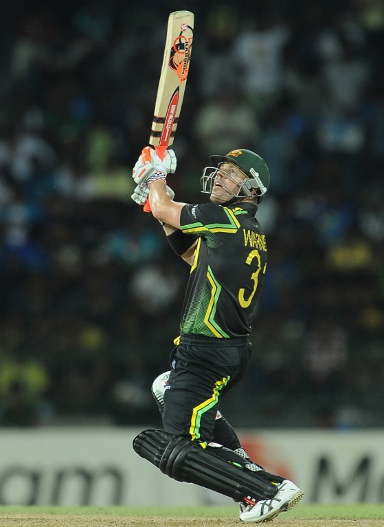 STRIKE A POSE: The upper cut is not an easy shot to play in cricket. It requires a fine sense of balance and timing. Australian cricketer David Warner shows us how it's done. Here, he plays it during the ICC Twenty20 Cricket World Cup match between Australia and West Indies at the R. Premadasa Stadium in Colombo on September 22, 2012.