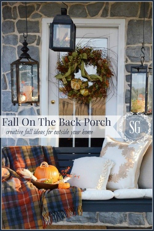 FALL BACK PORCH It's not to early for fall ideas and inspiration!