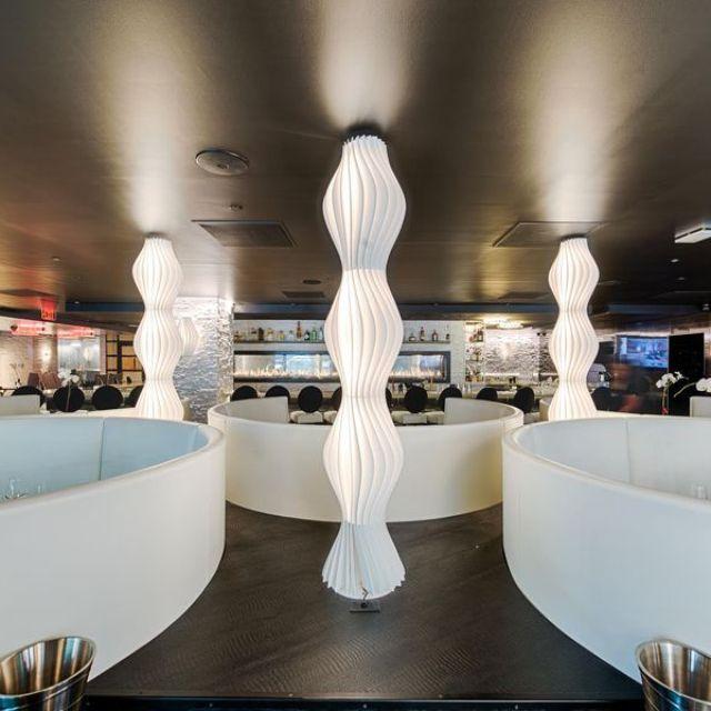 #Vapor in Claudia's steakhouse in Washington, DC. http://bit.ly/210vhoq Designer: Karim Rashid  #karimrashid #lighting #interior #design #designer #lamp #floor #interioridea #decoration #restaurant #club