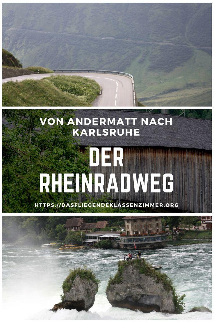 Der Rheinradweg von Andermatt nach Karlruhe #Radreisen #Outdoor #Fahrradreisen