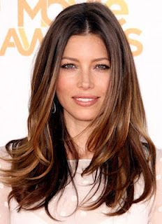 Love these Ombre Highlights! Jessica Biel hair. Long hair.