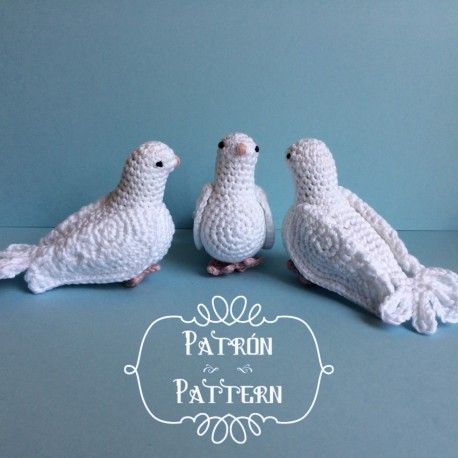 #haken, gratis patroon (Engels, Spaans), vogel, duif, huwelijk, bruiloft, amigurumi, knuffel, decoratie, #haakpatroon, #crochet, free pattern, dove, stuffed toy, wedding